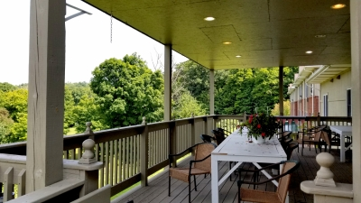 Serra Manor Back Porch